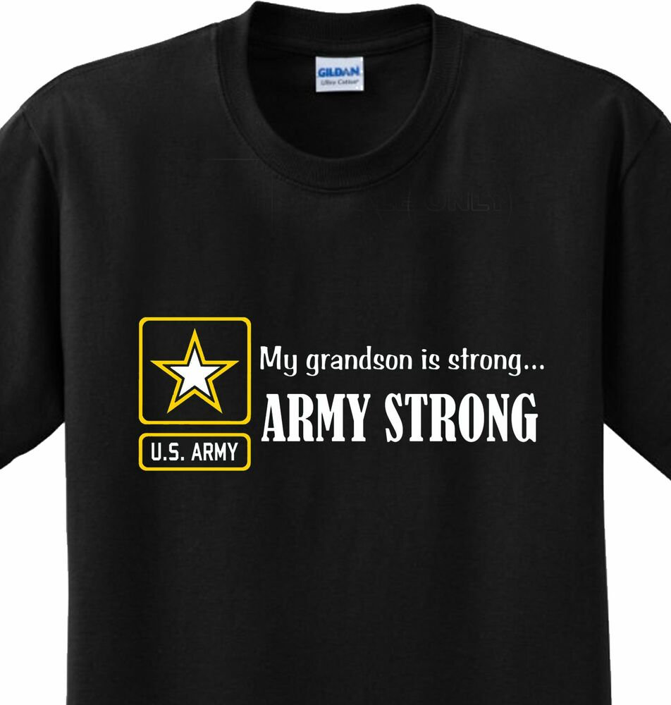 Army Strong Grandson Us Military Grandparent Soldier