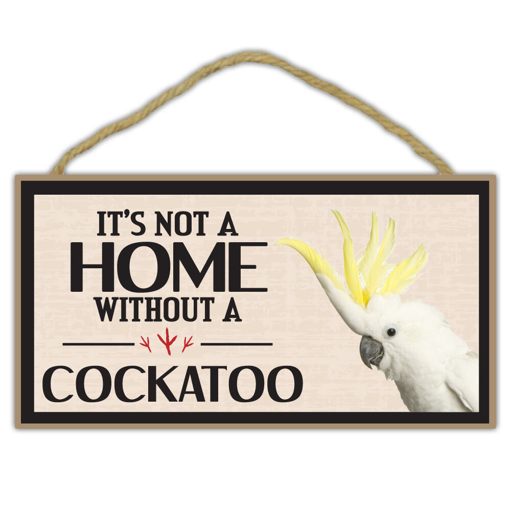 Wooden decorative bird sign not a home without a for Home decor gifts