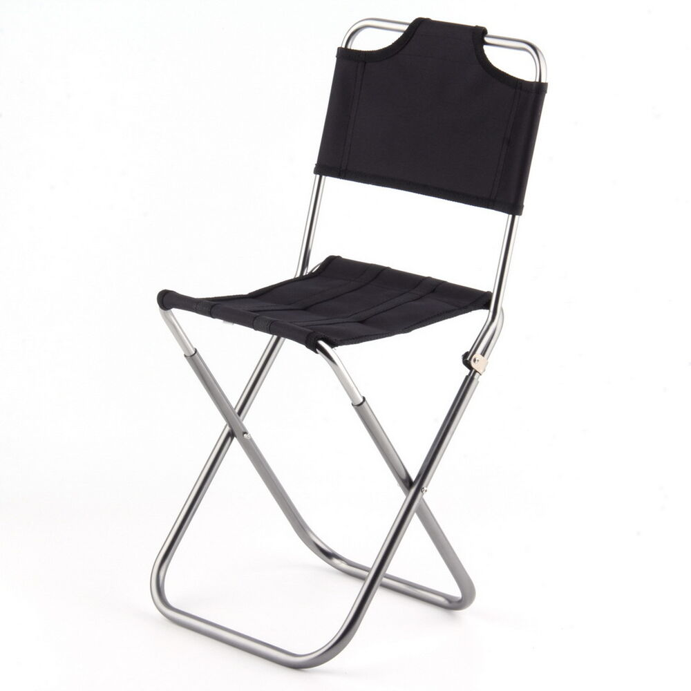Portable Folding Fishing Chair Outdoor Camping Hunting Stool Carry Bag Blac
