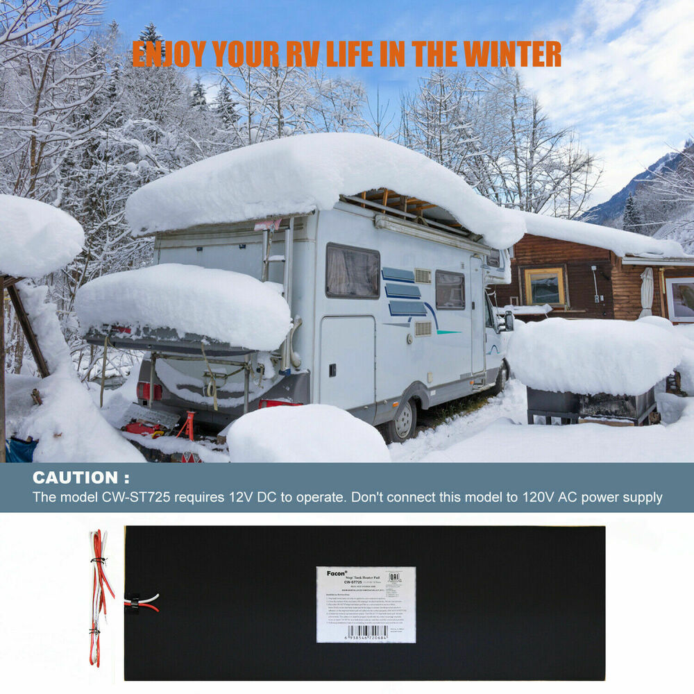 7 25 Quot X 25 Quot Rv 12v Camper Water Holding Tank Automatic