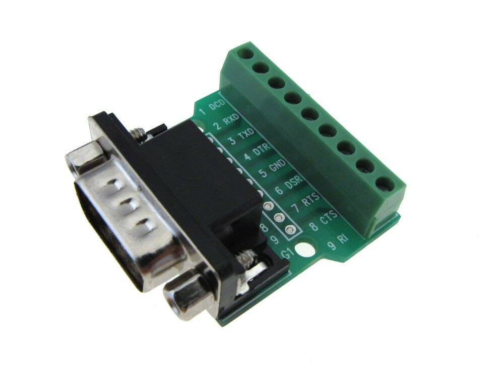 Db male signals breakout board screw terminal connector