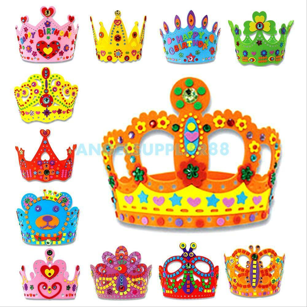 Children Kids Handmade 3D Crown Craft Kit Birthday Party