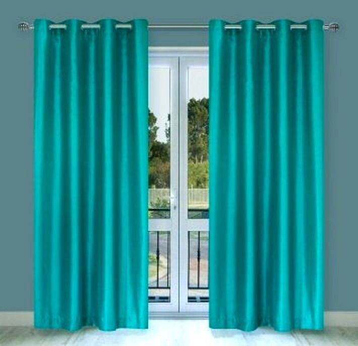 PANELS TURQUOISE LINED THERMAL BLACKOUT GROMMET WINDOW CURTAIN 55X84 ...