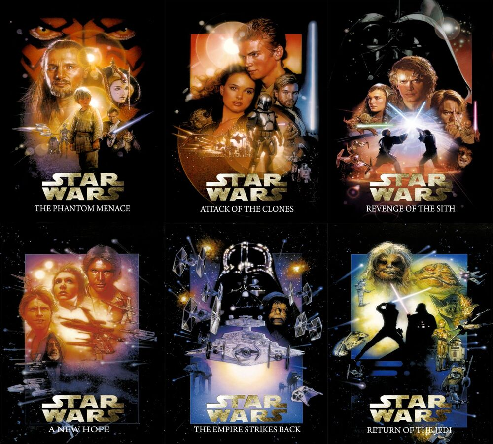 Star Wars™ THE COMPLETE SAGA Movie Poster DREW STRUZAN ...