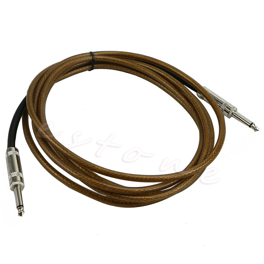 new 3m guitar cable amplifier amp instrument lead cord 10ft electric brown ebay. Black Bedroom Furniture Sets. Home Design Ideas