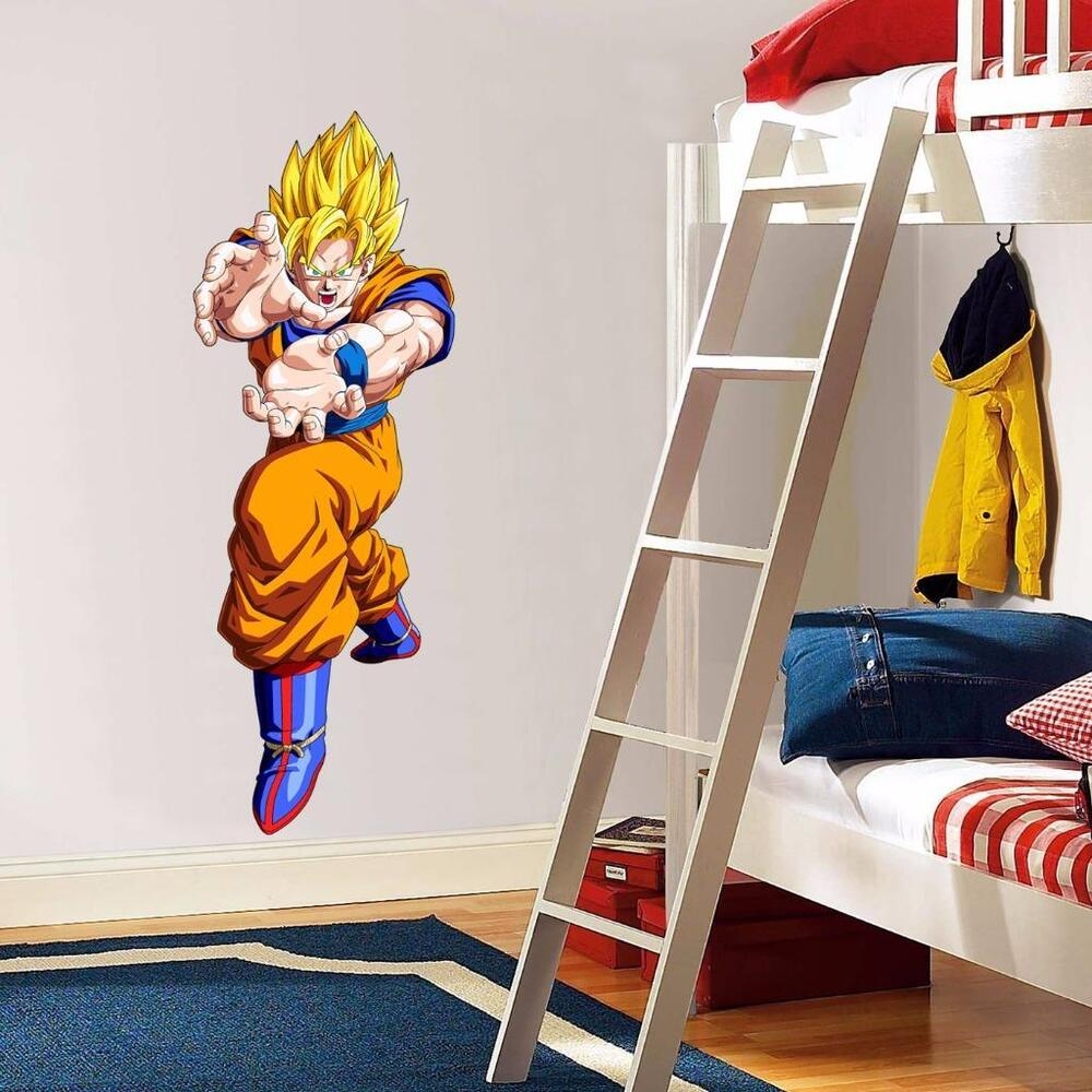 Goku attack ssj 1 2 dragon ball z decal removable graphic for Dragon ball z bedroom