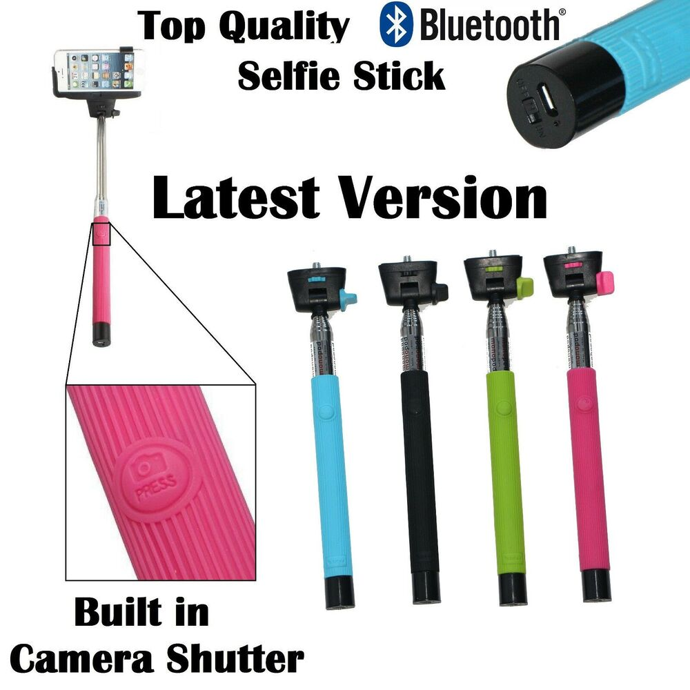 monopod selfie stick bluetooth iphone 5s 6 plus samsung sony s extendable holder ebay. Black Bedroom Furniture Sets. Home Design Ideas