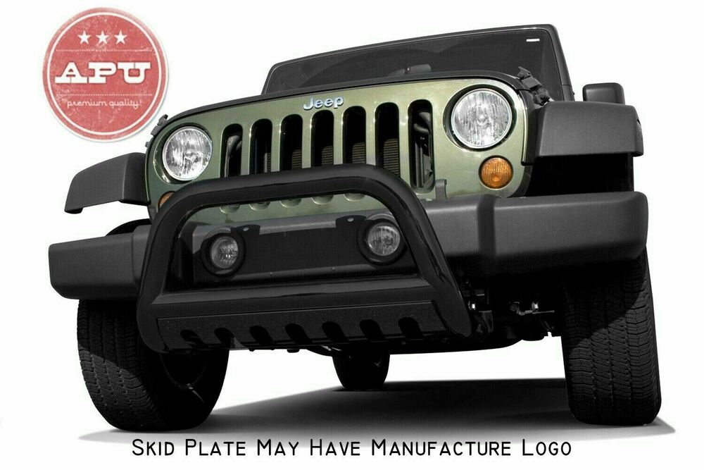 Jeep Wrangler Brush Guard >> APU 2011-2017 Jeep Wrangler Black Bull Bar Grille Bumper Brush Guard | eBay
