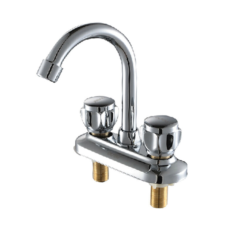 3 Hole Kitchen Faucets New Two Hole/Handles Basin Bathroom Kitchen Wash Basin ...