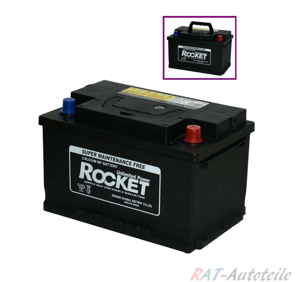 autobatterie pkw rocket 12v 90ah bat 090 rkt ebay. Black Bedroom Furniture Sets. Home Design Ideas