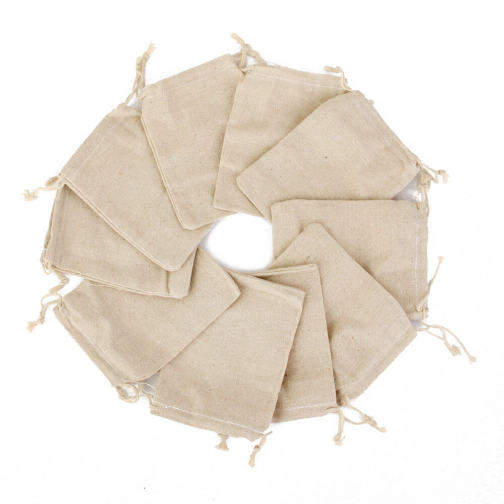 10x small burlap jute hessian wedding favor gift bags for Wedding favor gift bags