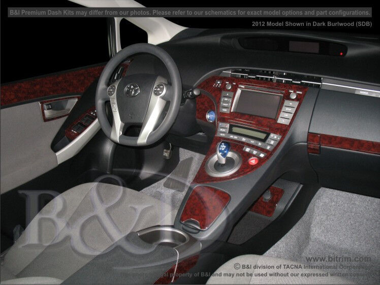 toyota prius wood dash kit for prius w o heads up display. Black Bedroom Furniture Sets. Home Design Ideas