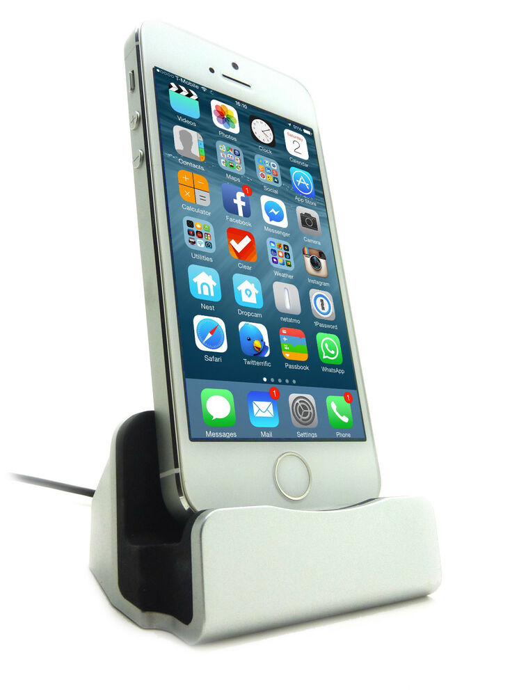 lightning docking station charge sync apple iphone 5s 6 6 plus ipod nano dock ebay. Black Bedroom Furniture Sets. Home Design Ideas