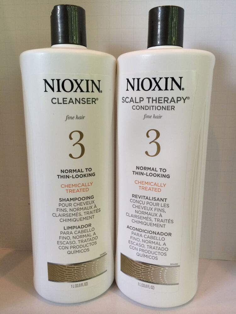 Nioxin System 3 Cleanser Scalp Therapy Chemically Treateed