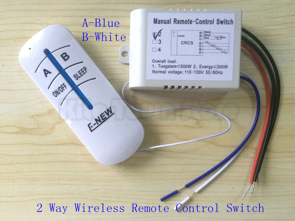 Us Standard 110v Wireless Remote Control 2 3 Way Lamp