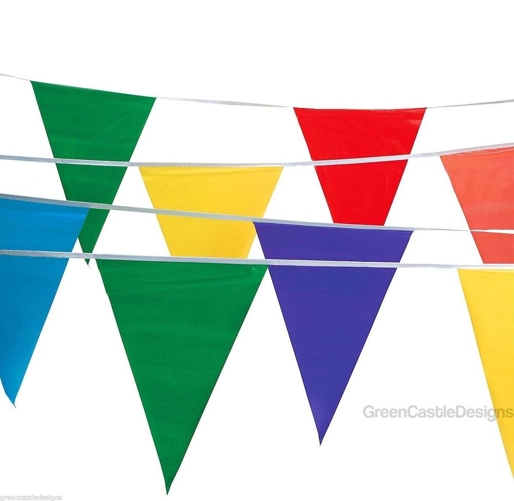 Pennant Flags 100 Ft Banner String Streamers Multi Colored