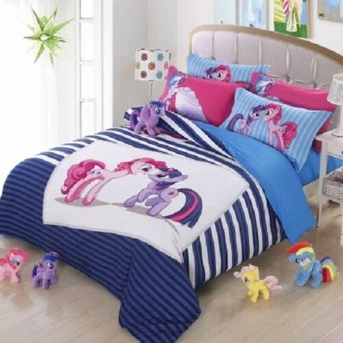 Twin Queen Size Blue My Little Pony Duvet Cover