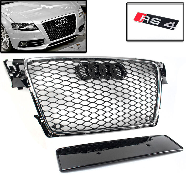 09 12 audi a4 avant s4 b8 honeycomb mesh hood grille. Black Bedroom Furniture Sets. Home Design Ideas