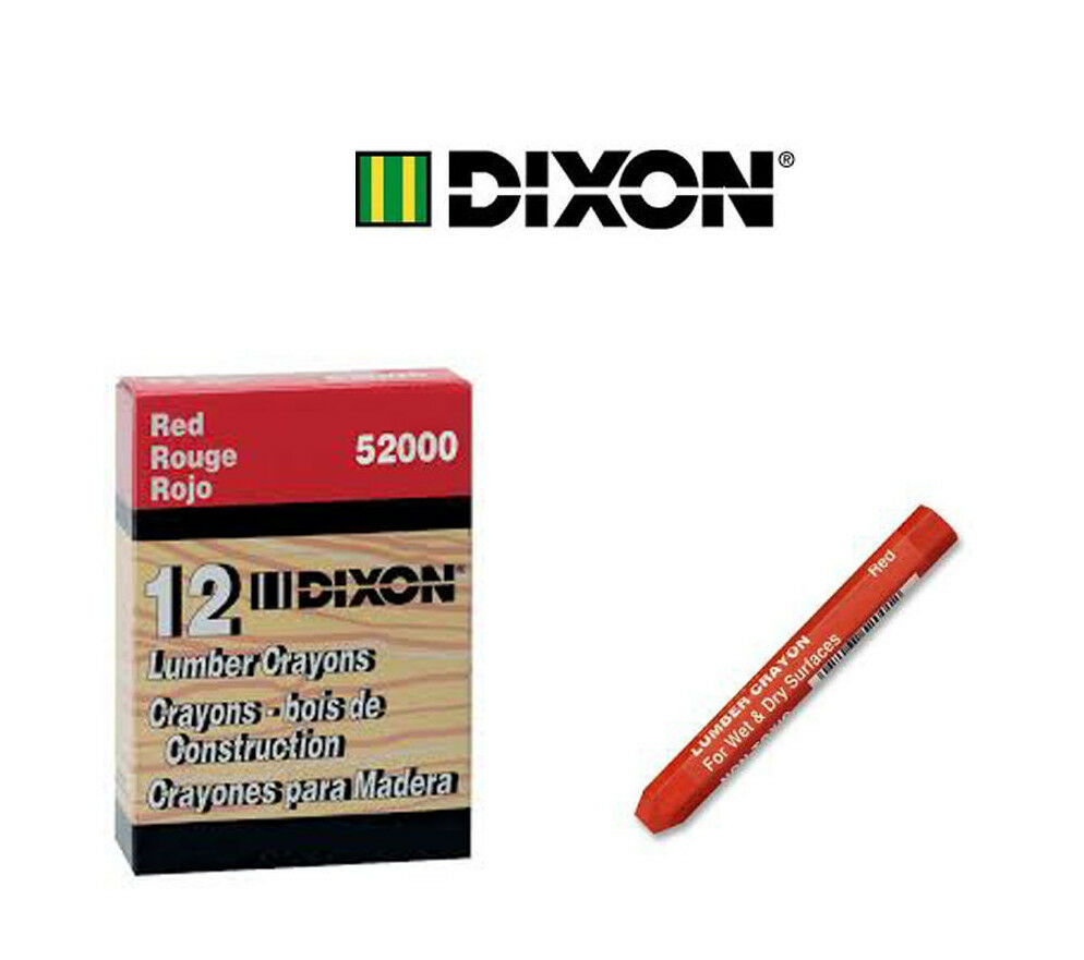 Crayons Mail: Dixon One Dozen Red Lumber Crayons (Keel) 52000 With