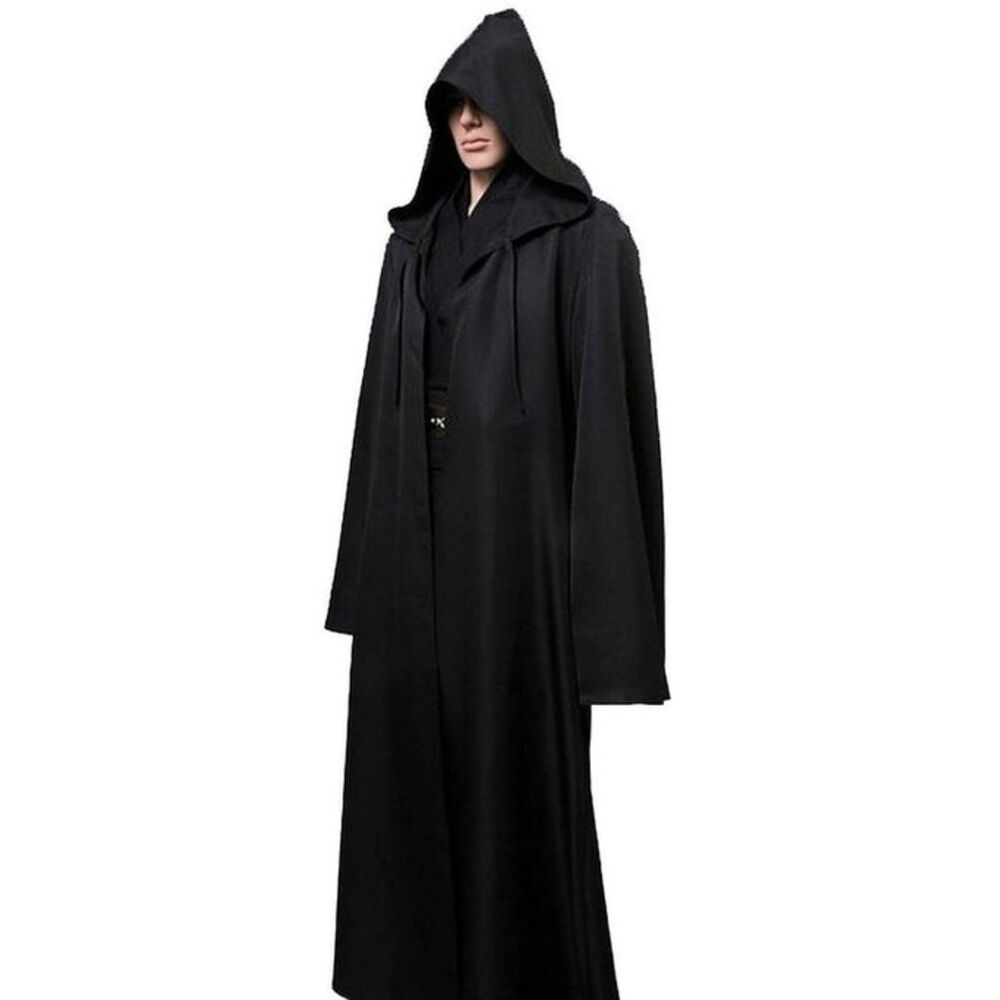 hot star wars jedi sith hooded cape cloak costume