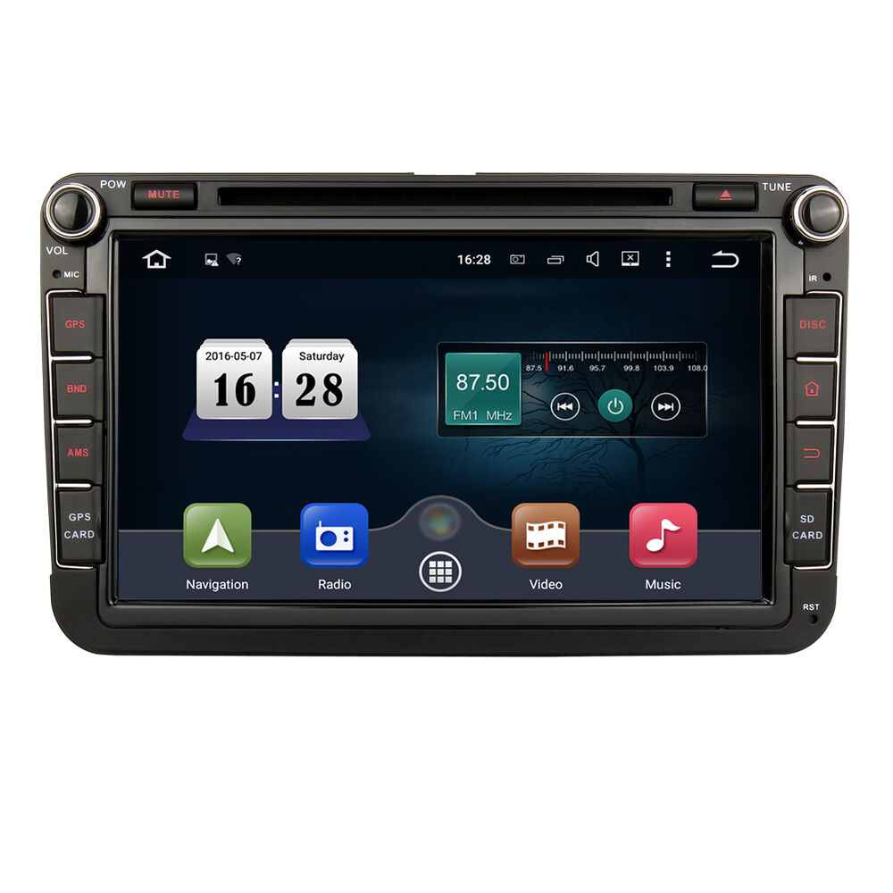 8 android 5 1 autoradio dvd cd gps navigation dab f r golf 5 6 passat seat ebay. Black Bedroom Furniture Sets. Home Design Ideas
