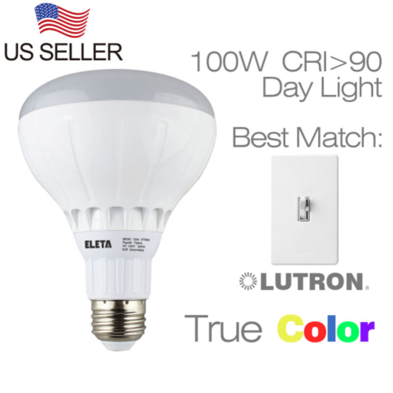 15W Dimmable BR30 LED Light Bulbs 100W Equivalent,5500K ...