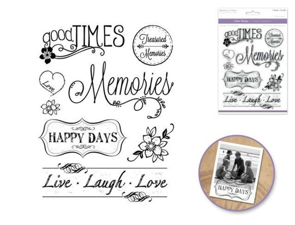 Pictures Make Memories Quotes: Forever In Time Clear Cling Rubber Stamp Making Memories
