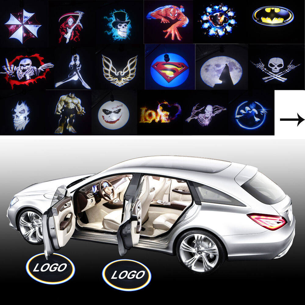 2x Custom-made Cree LED Car Door Laser Projector Welcome