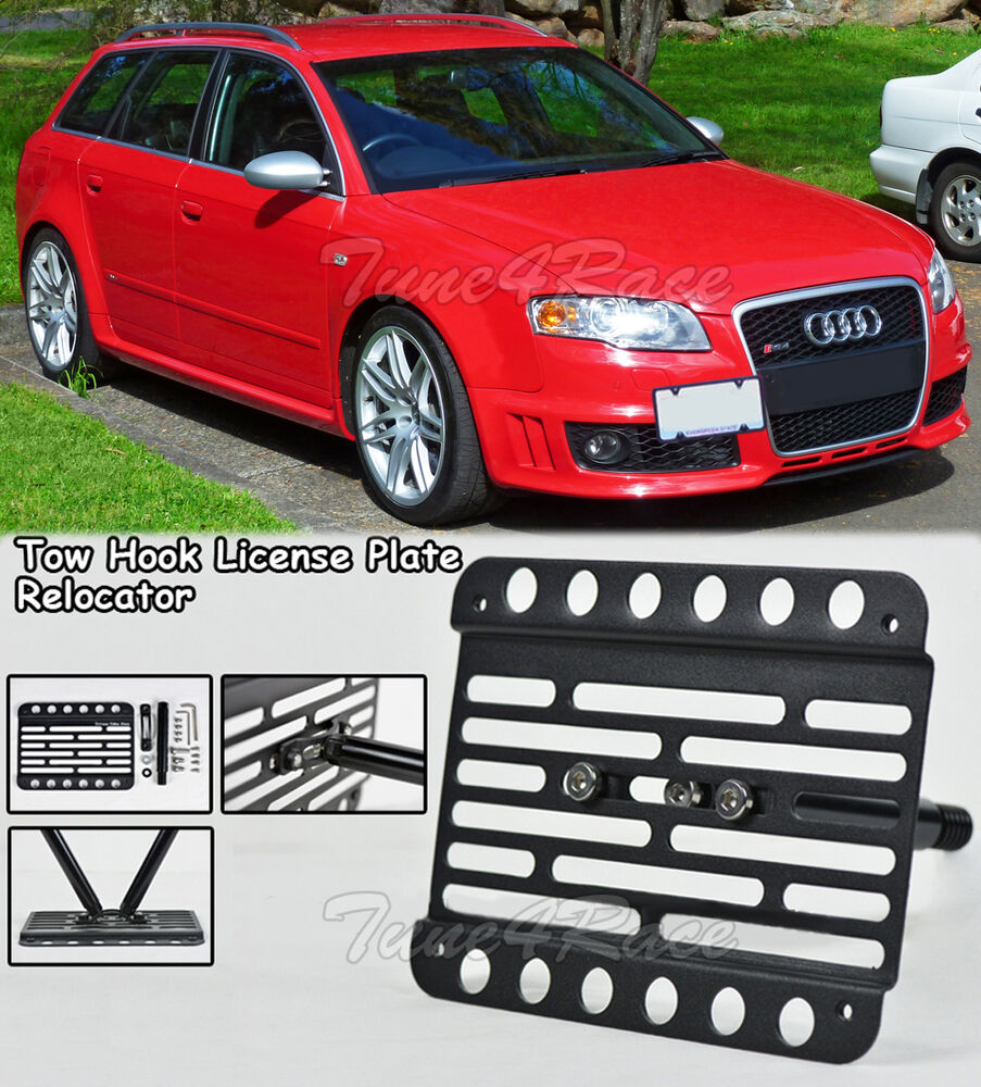 Audi A4 License Plate Frame: For 06-08 Audi A4 S4 RS4 B7 Front Bumper Tow Hook License
