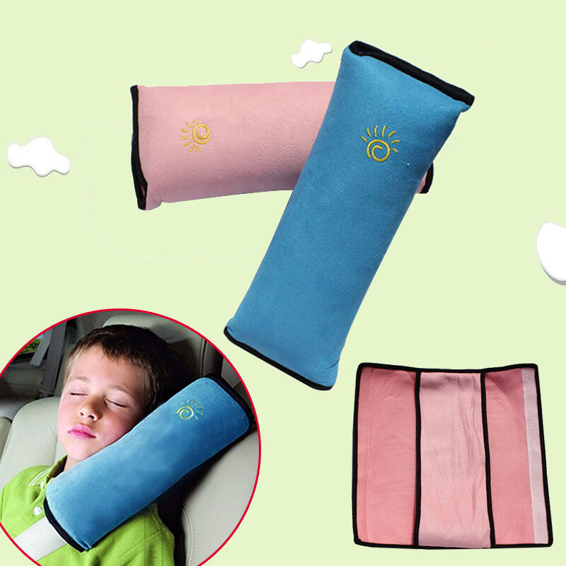 baby car headrest kids head neck pad child cushion soft cotton mini cute pillow ebay. Black Bedroom Furniture Sets. Home Design Ideas
