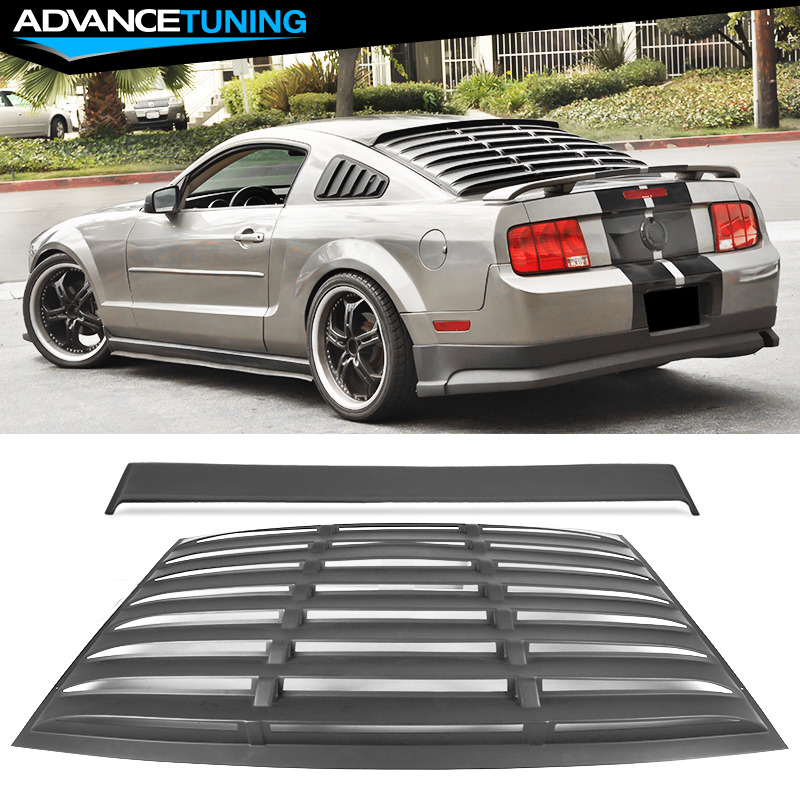05 14 ford mustang rear window roof visor spoiler pur for 05 mustang rear window louvers