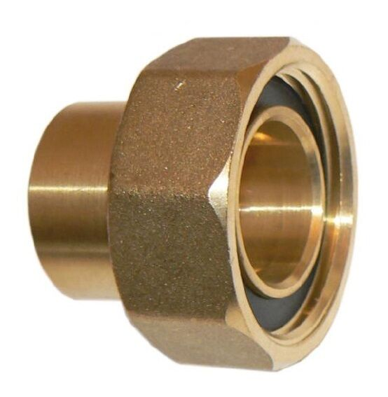 Mm quot bs brass female nut standard short gas meter