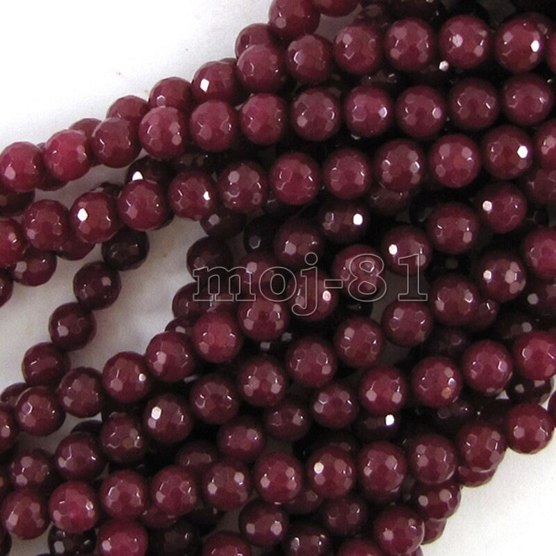Red Ruby Beads: AAA+++ Natural 6mm Faceted Brazil Red Ruby Gemstones Loose