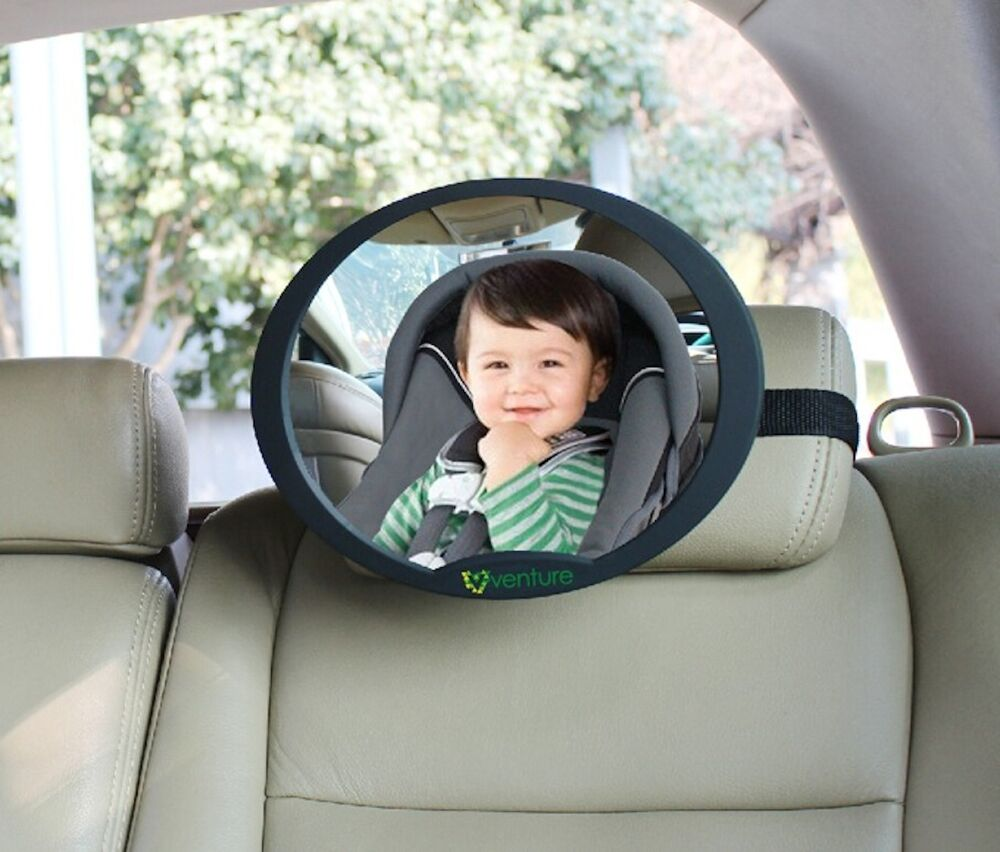 large adjustable oval view rear baby child seat car safety mirror headrest mount ebay. Black Bedroom Furniture Sets. Home Design Ideas