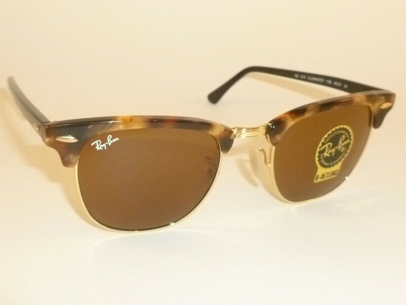 b24714671a Details about New RAY BAN Clubmaster Tortoise Frame RB 3016 1160 B-15 Brown  Lenses 51mm