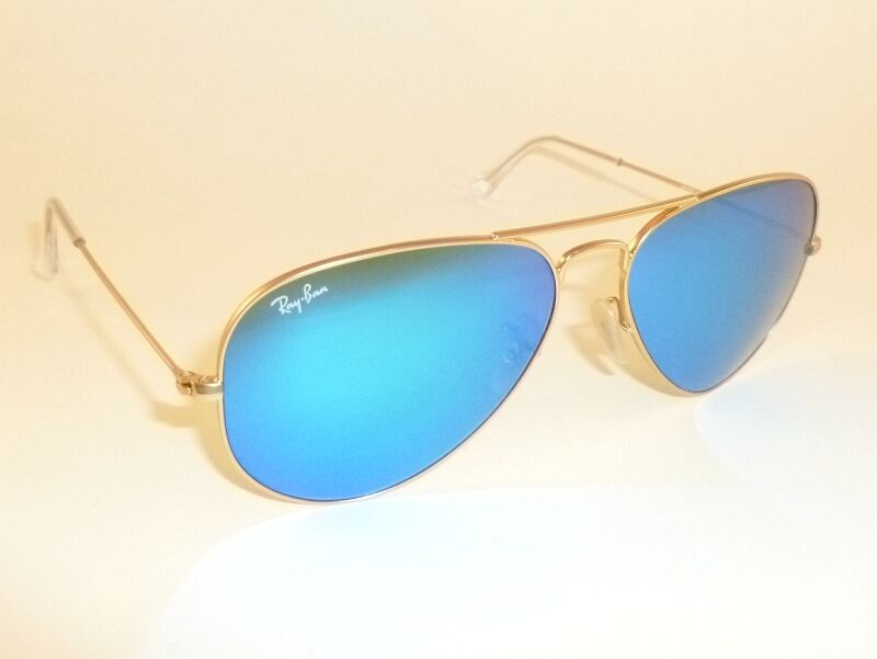 Ray Ban Sunglasses Gold Frame : New RAY BAN Aviator Sunglasses Matte Gold Frame RB 3025 ...