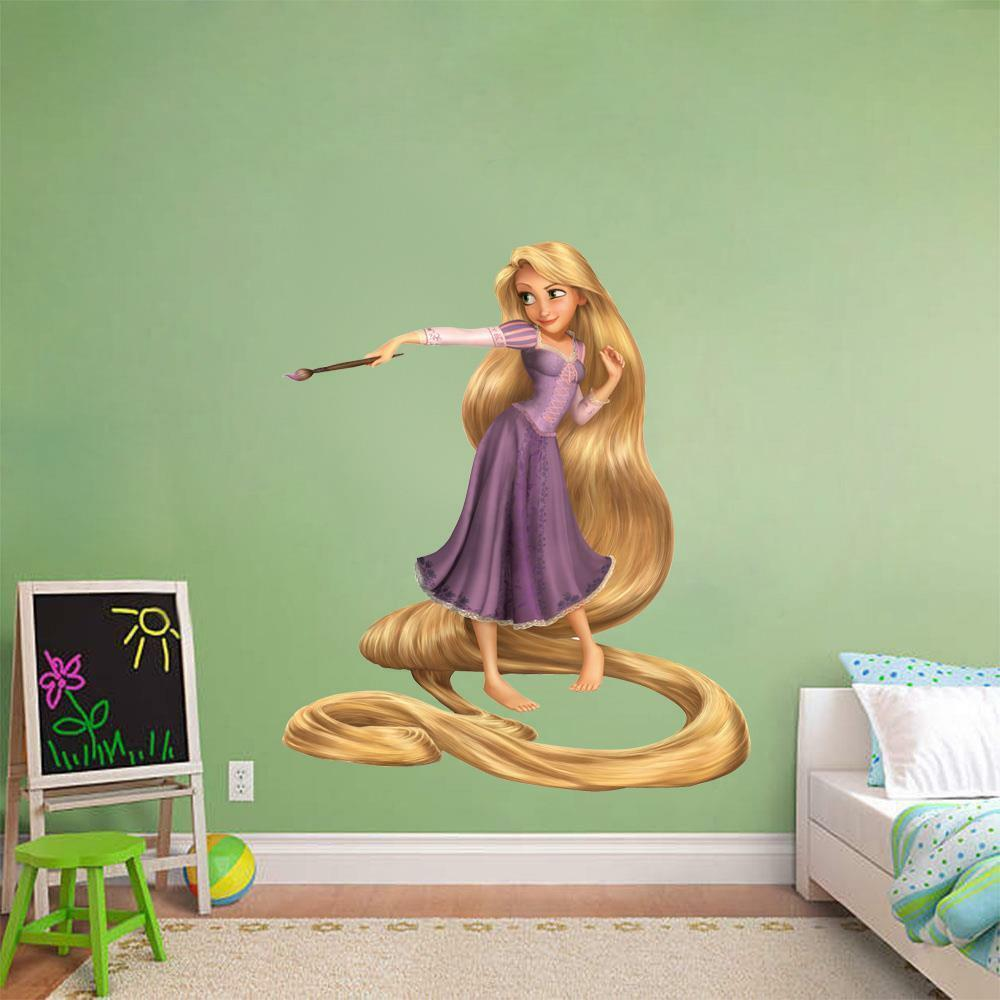 rapunzel painting tangled decal removable wall sticker tangled rapunzel giant wall decal wall2wall