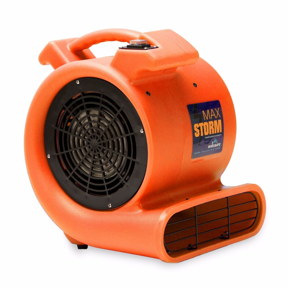 Air Mover Blower 115v Soleaire 174 Max Storm 2550 Cfm Orange
