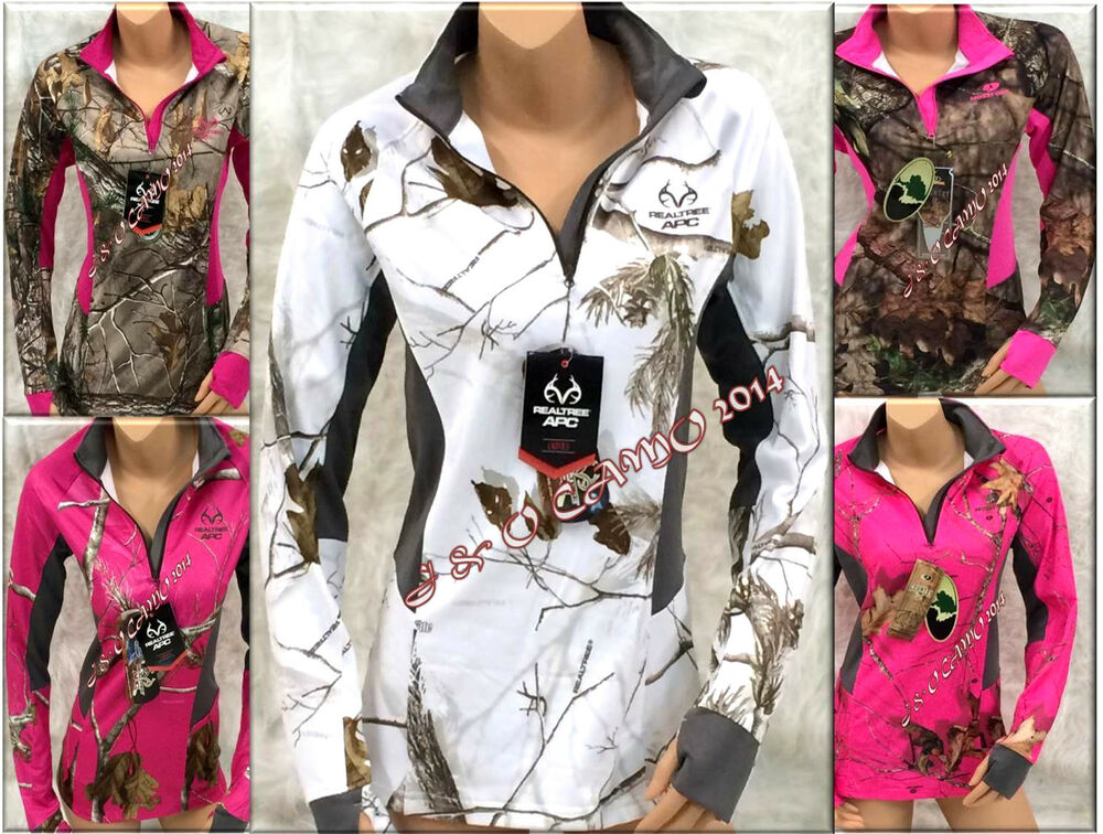 Pink camo clothes for women