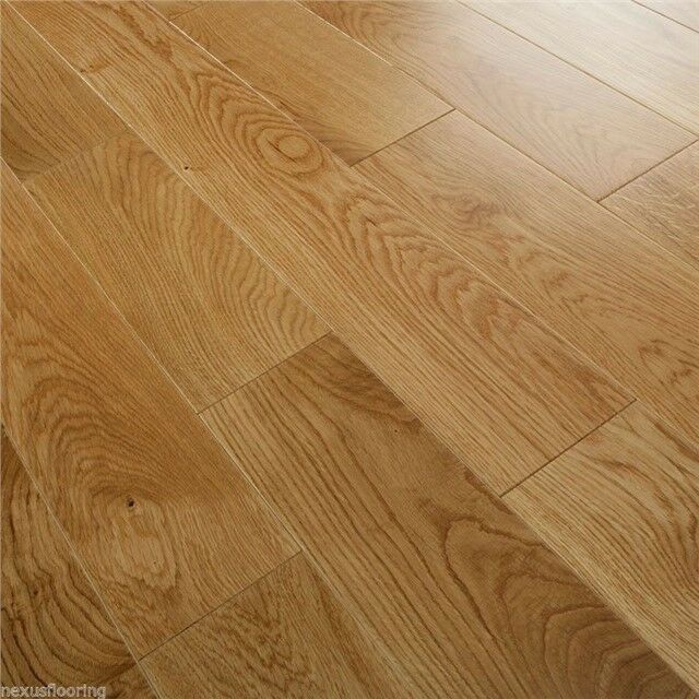 Solid oak flooring real wood wooden floor hardwood 148mm x for Real solid wood flooring