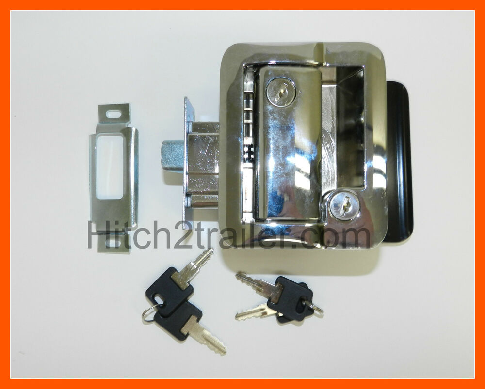 Chrome Rv Paddle Entry Door Lock Latch Handle Knob