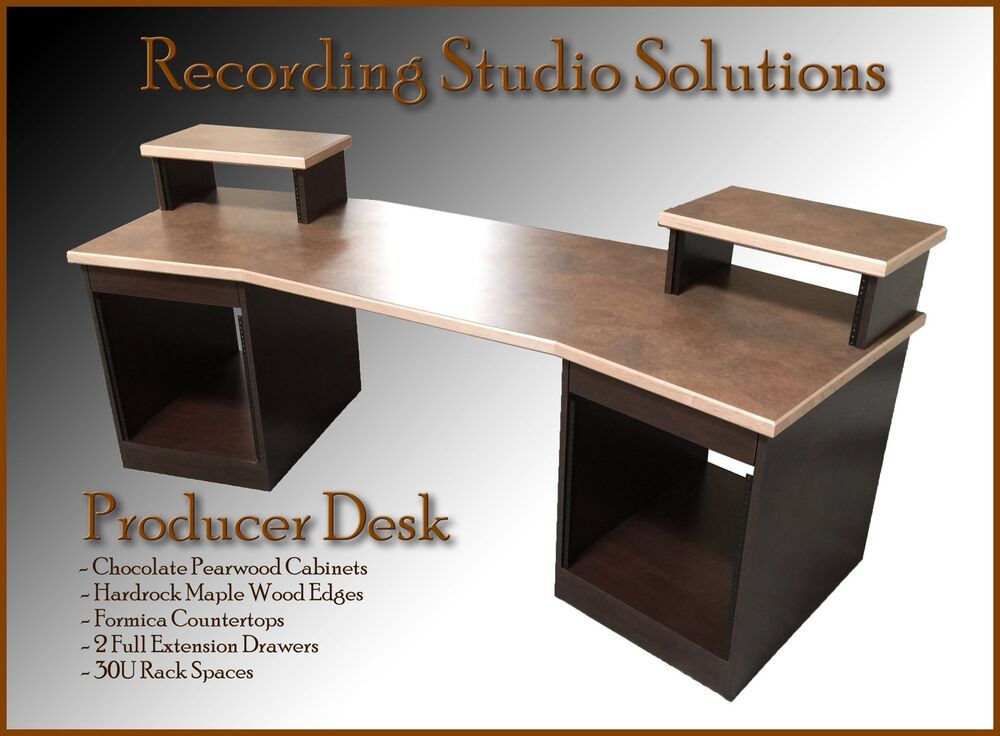 Recording Studio Desk Chocolate Pearwood Finish W Maple