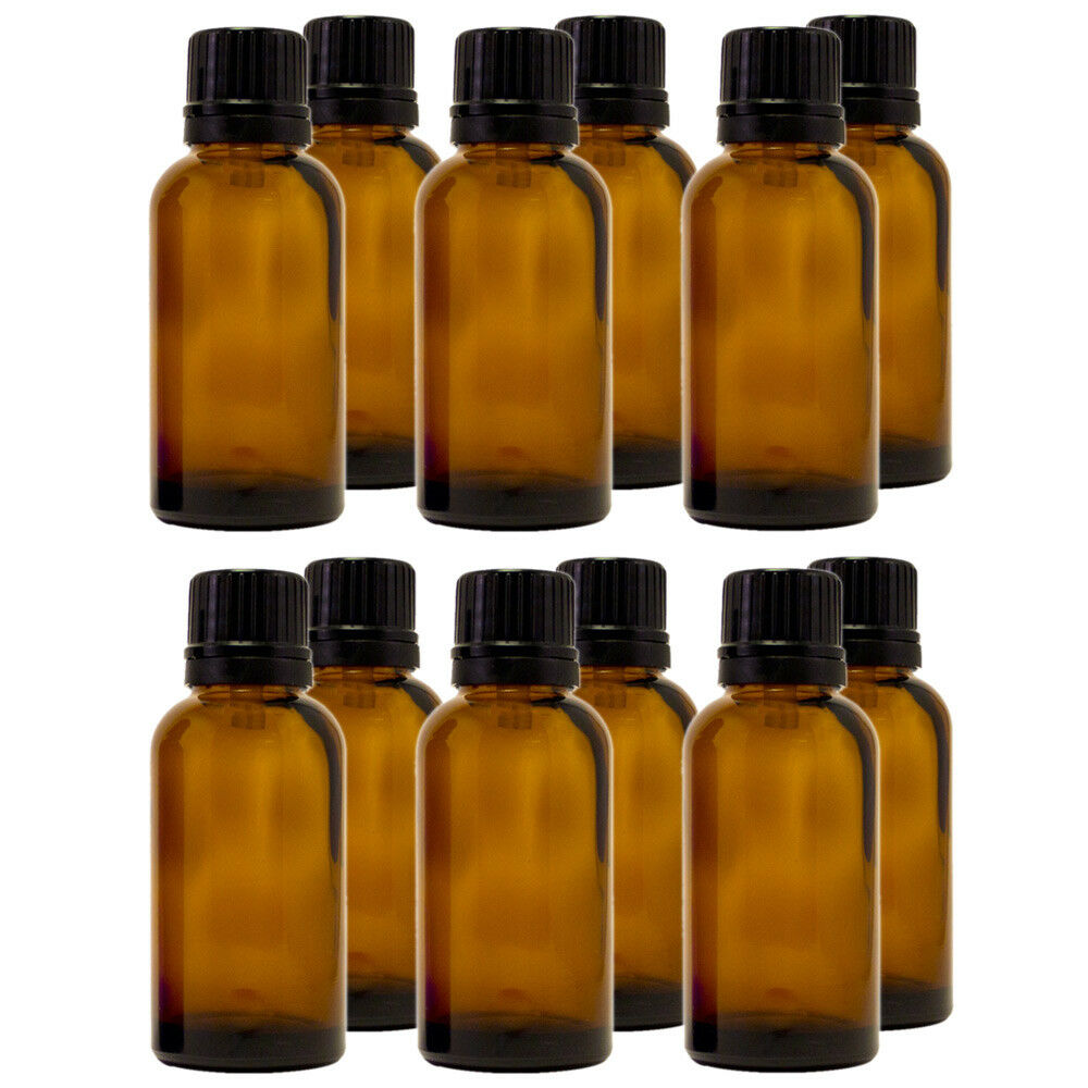 Ml Amber Glass Round Bottles Droppers
