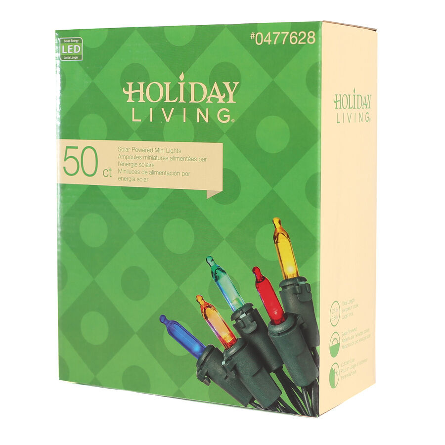 Holiday Living 50 Count Outdoor Constant Multicolor Led