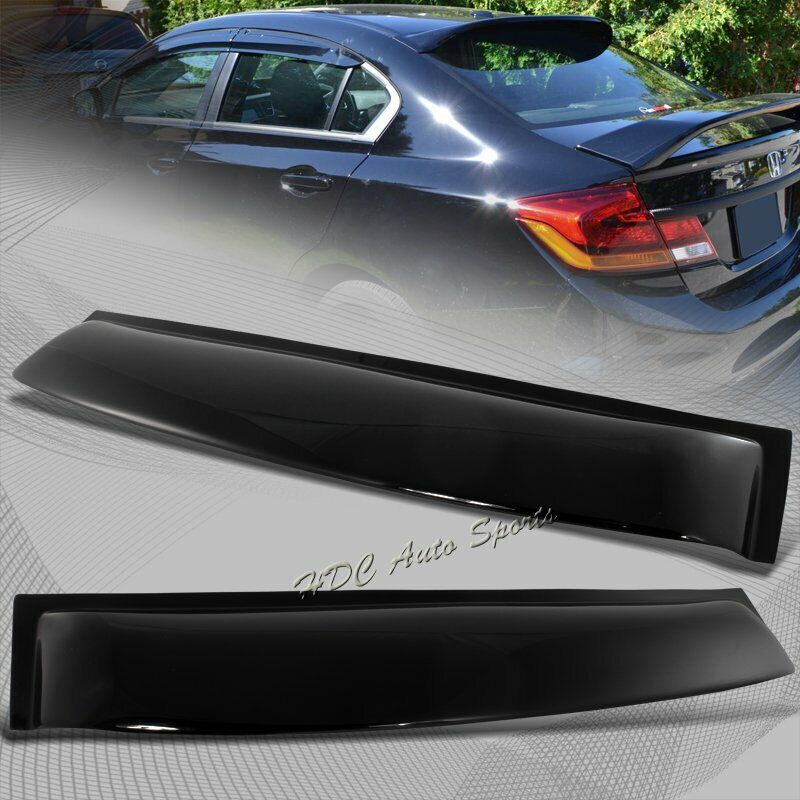 For 2006 2015 honda civic sedan black abs plastic rear for 2000 honda civic rear window visor