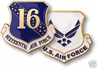 USAF UNITED STATES SIXTEENTH  AIR FORCE CHALLENGE COIN