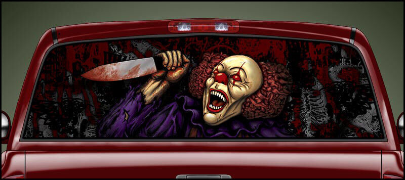 Scary Clown V1 Psycho Killer Clown Posse Rear Window