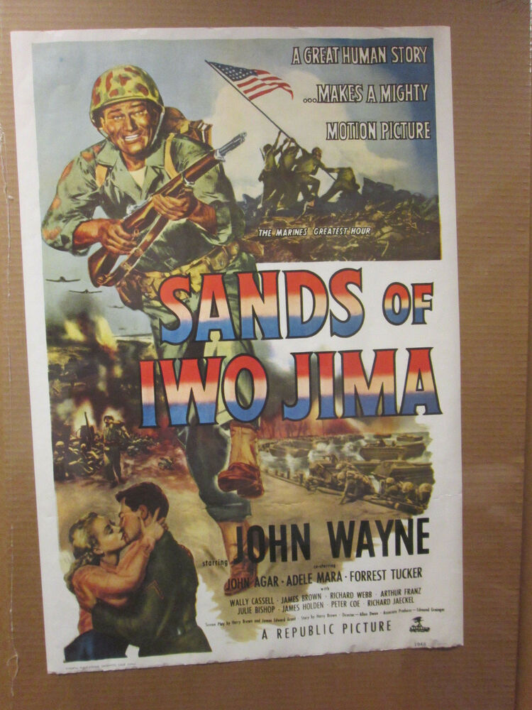 vintage 70s sands of iwo jima reprint of 1948 original