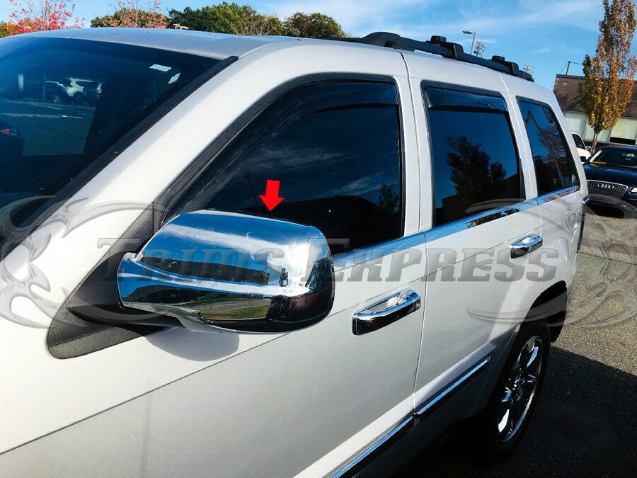 2005 2010 Jeep Grand Cherokee Chrome Door Mirror Full Covers Pair Ebay
