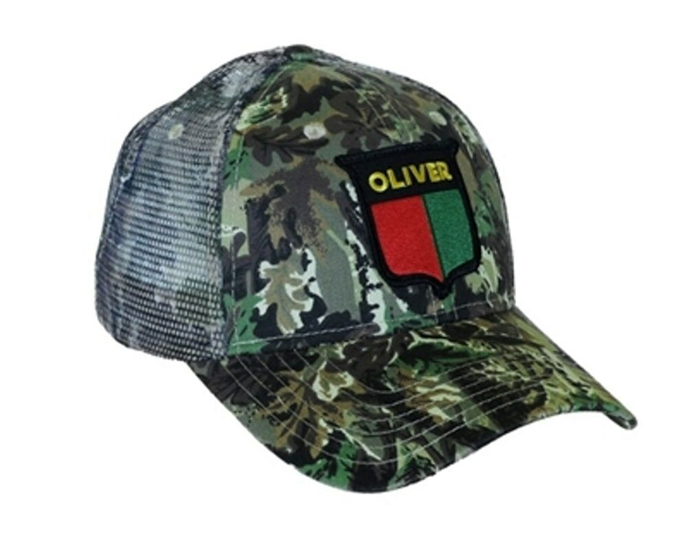 Tractor Shirts And Hats : Oliver tractor cap vintage split shield logo camo hat mesh